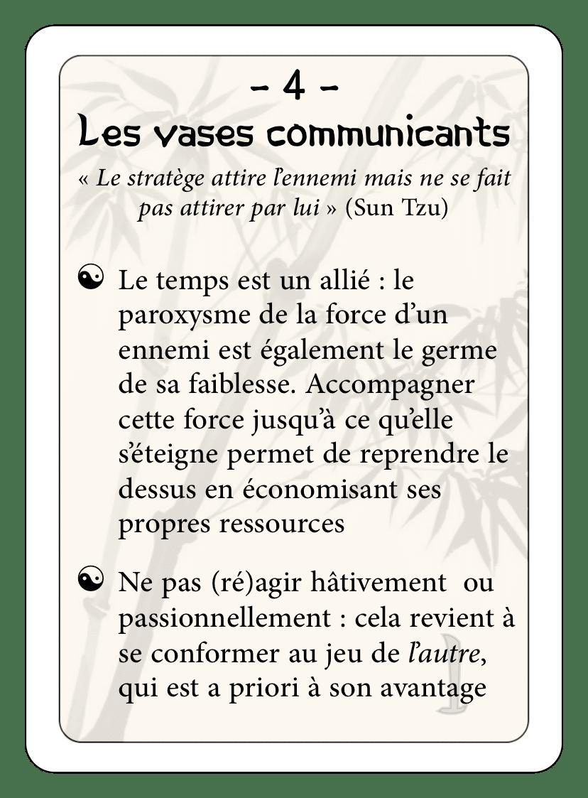 Les 36 stratagèmes : 04 - Les vases communicants