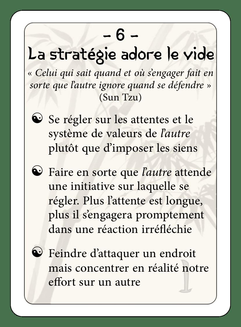 Les 36 stratagèmes : 06 - La stratégie adore le vide