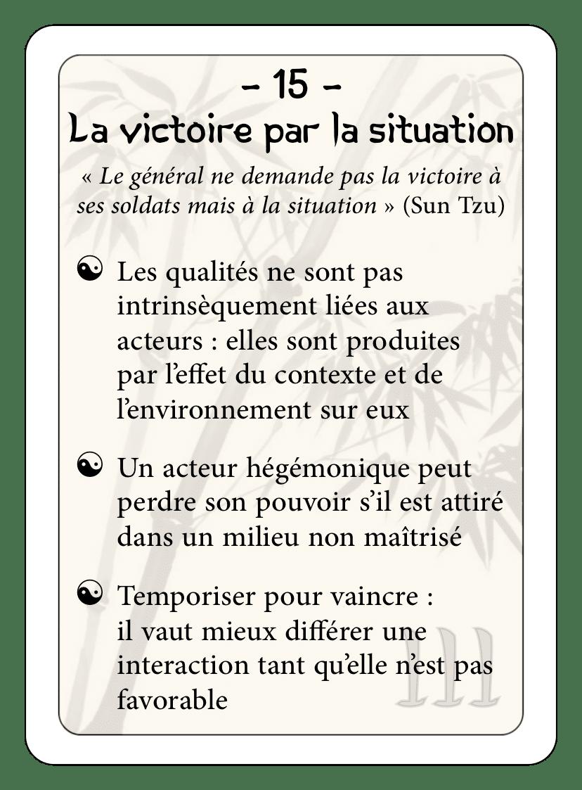 Les 36 stratagèmes : 15 - La victoire par la situation