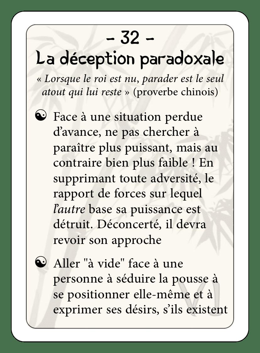 Les 36 stratagèmes : 32 - La déception paradoxale