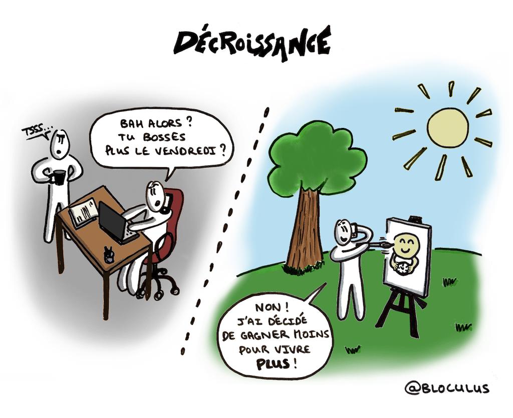 #cartoon en #sociologie : Et si la #décroissance était la clé pour mieux vivre ?