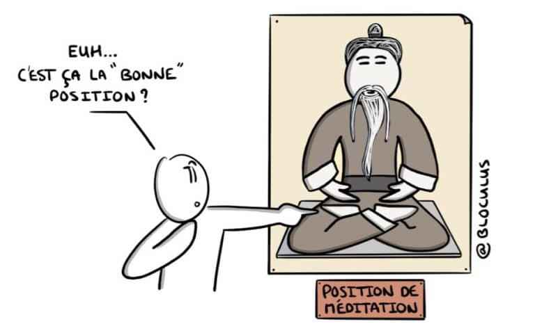 La «bonne» position pour méditer ?